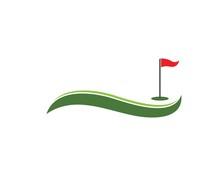 Golf Icon Logo Vector Template