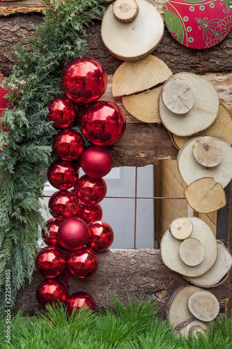 Décoration De Noël Artisanale Boules Et Branches De Sapin Buy