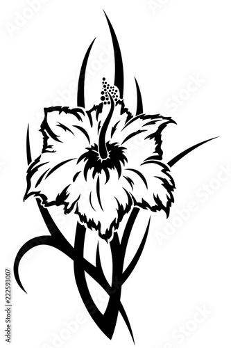 076f73e05 Tribal tropical flower tattoo illustration - Buy this stock vector ...