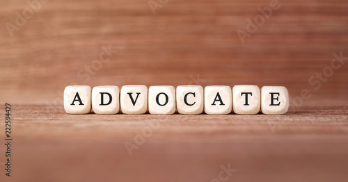Word ADVOCATE made with wood building blocks Canvas Print