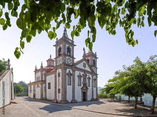 Valokuvatapetti Our lady of Porto De Ave baroque sanctuary in Povoa de Lanhoso, Portugal