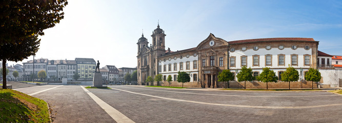 Braga, Portuga. Populo Church. Mannerist, rococo and neoclassical architecture.