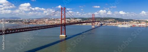 Ponte 25 de Abril Bridge in Lisbon, Portugal Wallpaper Mural