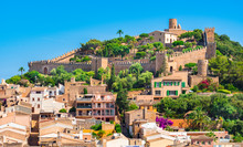 Beautiful View Of Medieval Castle And Old Town Of Capdepera On Mallorca Island