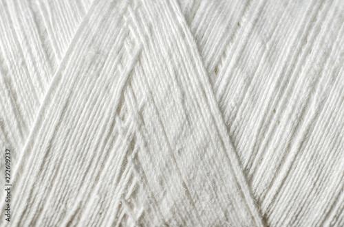 Fotomural white thread