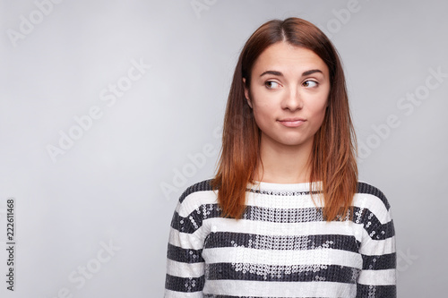 e28a8ddcf74 Close-up portrait of young female with pure skin