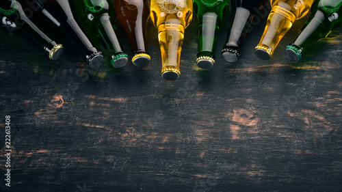 Tela A large selection of beer bottles