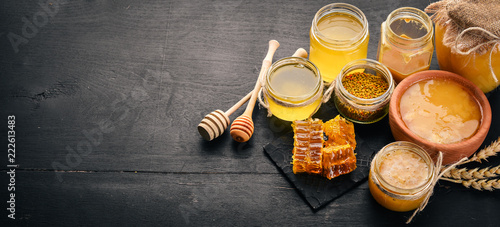 Slika na platnu A set of honey and bee products