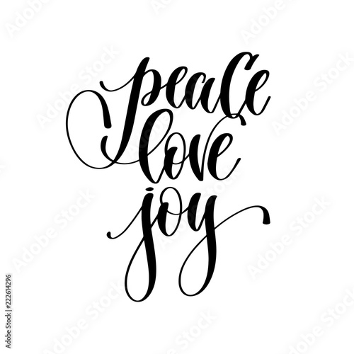 peace love joy - hand lettering inscription text Fototapet
