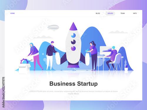 Photo  Business startup modern flat design concept
