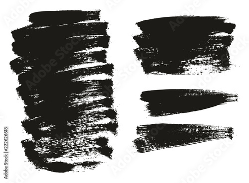 Cuadros en Lienzo  Paint Brush Background High Detail Abstract Vector Background Set 147