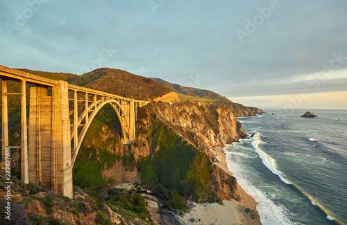 Foto op Canvas Verenigde Staten Bixby Creek Bridge on Highway 1, California