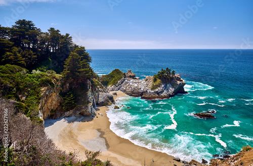 In de dag Verenigde Staten USA Pacific coast beach landscape, California