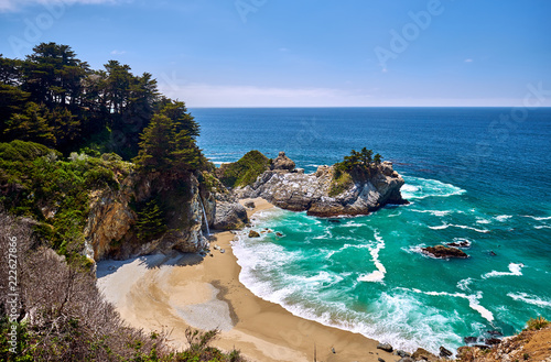 Staande foto Verenigde Staten USA Pacific coast beach landscape, California