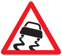 Slippery Road Road Sign