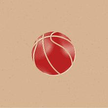 Halftone Icon - Basket Ball