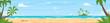 tropical island sea shore
