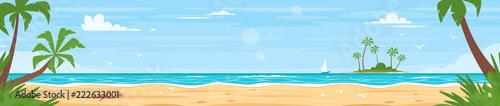 Foto auf AluDibond Pool tropical island sea shore