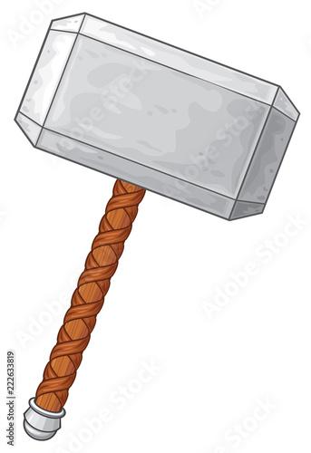 Carta da parati Hammer of Thor vector illustration