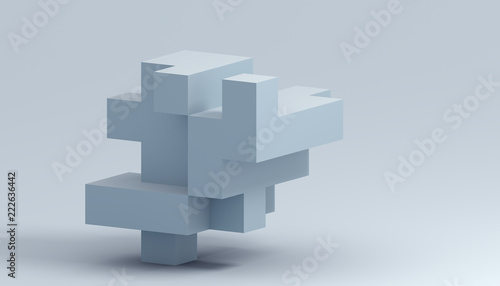 Fototapeta Abstract 3d rendering of a modern geometric background. Minimalistic design for poster, cover, branding, banner, placard. obraz