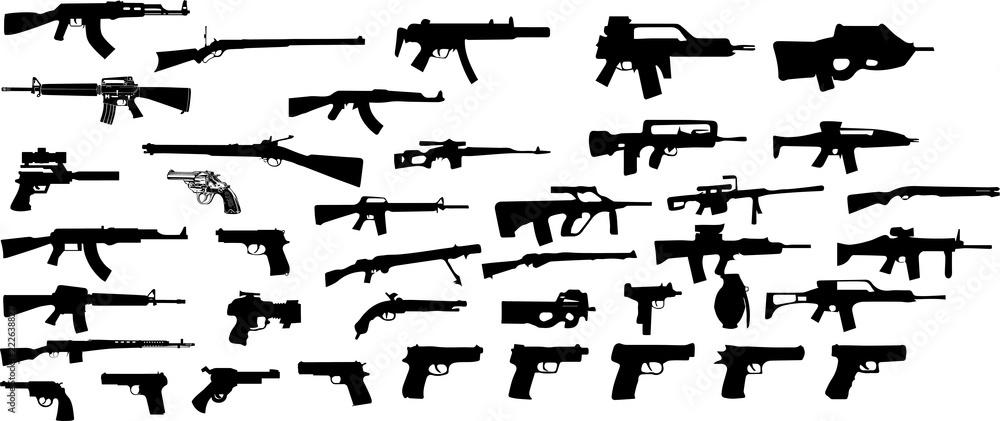 Fototapeta 銃のシルエット
