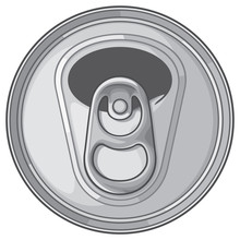 Opened Can Top Vector Illustra...