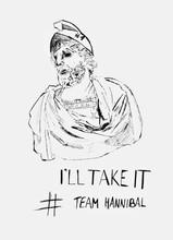 Hand Drawn Portrait - Hannibal Barkas. Caricature.nGreat Write - I`ll Take It.