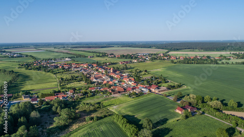 village Bardenitz, south of Berlin - Birds eyes view