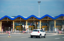 A Toll Collection Area In Croatia. Payment Area.