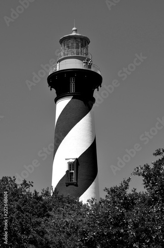 Historic St. Augustine, Florida lighthouse