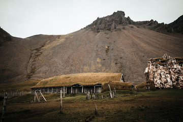 This was an old movie set that was supposed to be used as a Viking Village, but it never was and is now just a cool place you can visit in Iceland near Hofn.