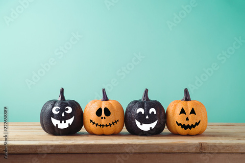 Halloween holiday concept with jack o lantern