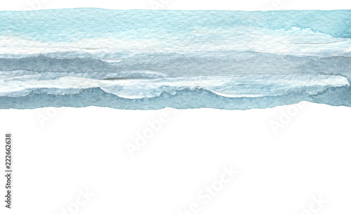 Abstract blue watercolor brush stroke painted background. Texture paper. Isolated.