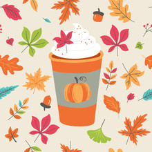 Pumpkin Spice Latte Coffee Cup