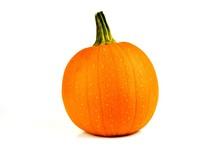 Orange Pumpkin Isolated On A W...