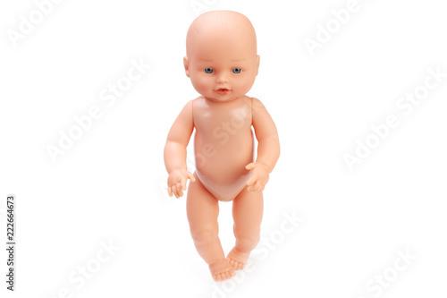 Fototapeta baby doll isolated in white