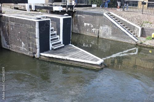 Fotobehang Kanaal Canal à Camden town