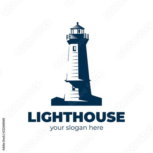 lighthouse logo. vector design Canvas Print