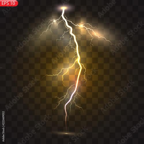 Obraz na płótnie Thunder-storm and lightnings