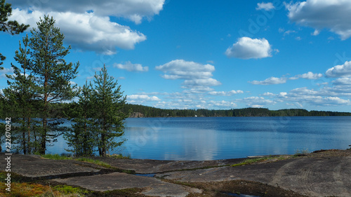 Foto op Aluminium Blauwe jeans finnish lake in summer