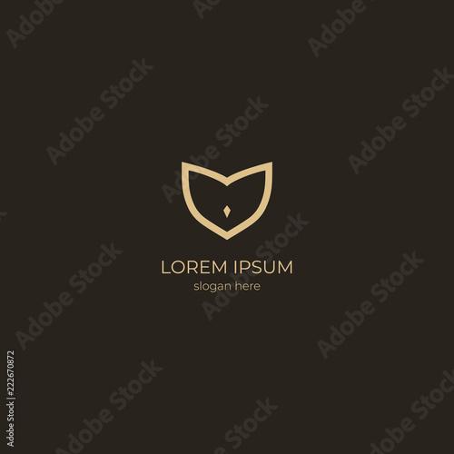 Keuken foto achterwand Uilen cartoon owl logo. vector design
