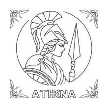 Athena Line Art Vector
