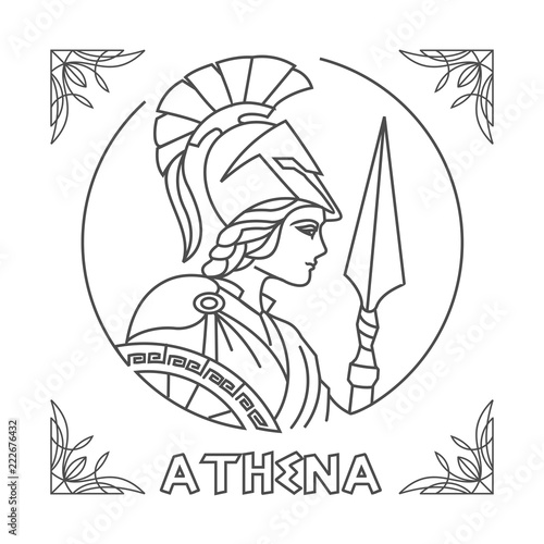 Photo athena Line Art vector