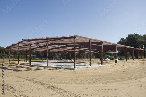 Fotografie, Obraz  Building steel skeleton