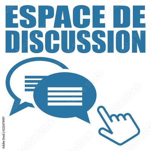 Fotografie, Obraz  Logo espace de discussion.