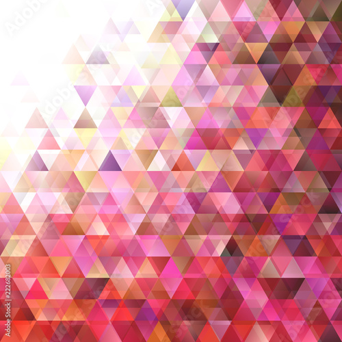Fotografie, Obraz  Geometrical abstract gradient triangle background - vector graphic design
