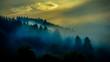 canvas print picture - Nebel über dem Schwarzwald