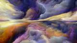 Wirtualny krajobraz abstrakcyjny - 222686464