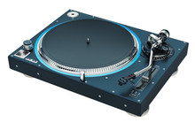 Phonograph Turntable. 3D Rende...