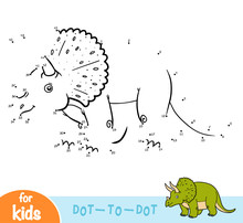 Numbers Game, Education Game For Children, Triceratops
